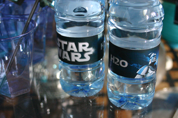 Sweet table - Star Wars - bottle labels