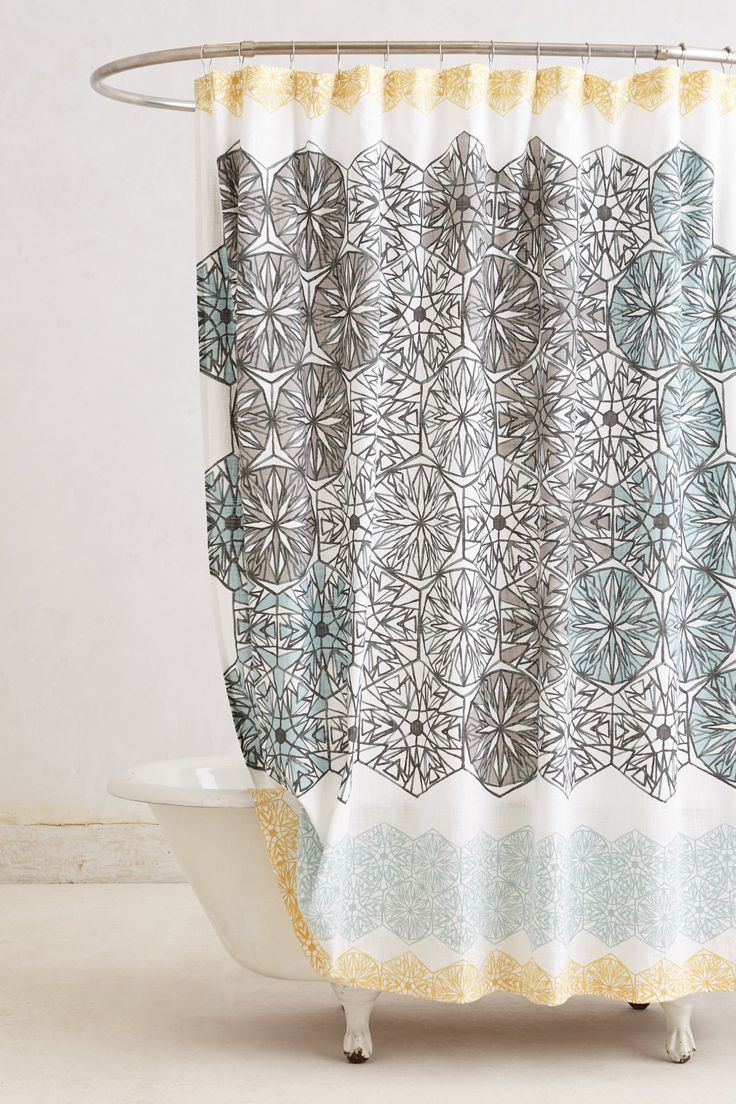 Capital A Fresh Start Shower Curtains Simple And Spa Like