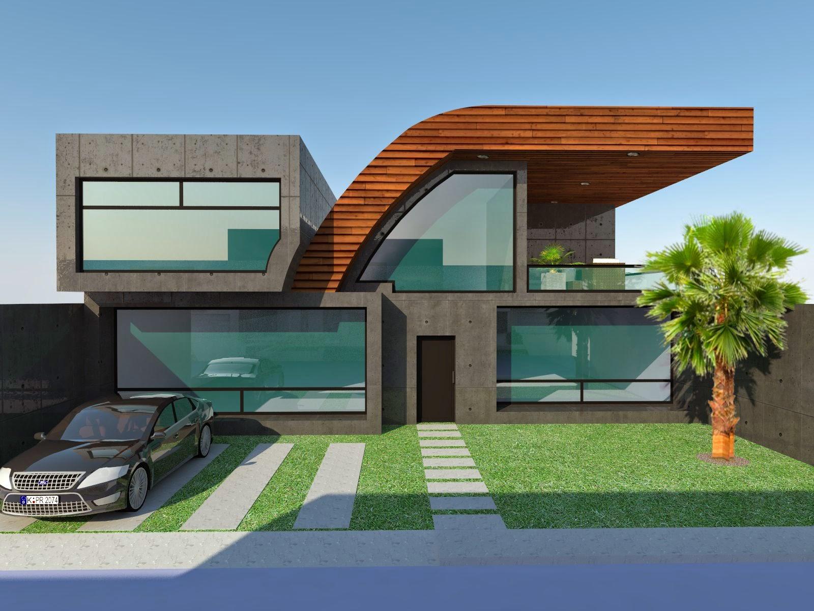 Arquitrec fachadas de casas minimalistas creadas en arquitrec for Render casa minimalista
