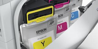 Printer Epson dengan teknologi RIPS dibekali kantung tinta kapasitas 1 liter yang sanggup mencetak hingga 75.000 halaman