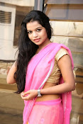 Bhavya Sri Photos in Pink Halfsaree-thumbnail-5