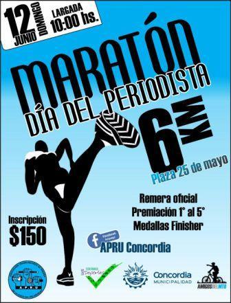 Maratón día del Periodista 12 de Junio 2016