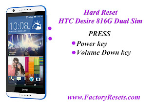 Hard Reset HTC Desire 816G Dual Sim