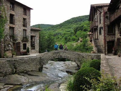 Beget and the mountains of the Pyrenees in Catalonia