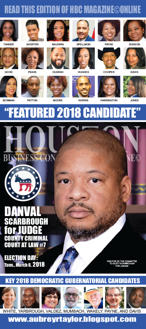 ATTORNEY DANVAL SCARBROUGH, OTHER 2018 CANDIDATES PROMOTIONAL EDITION
