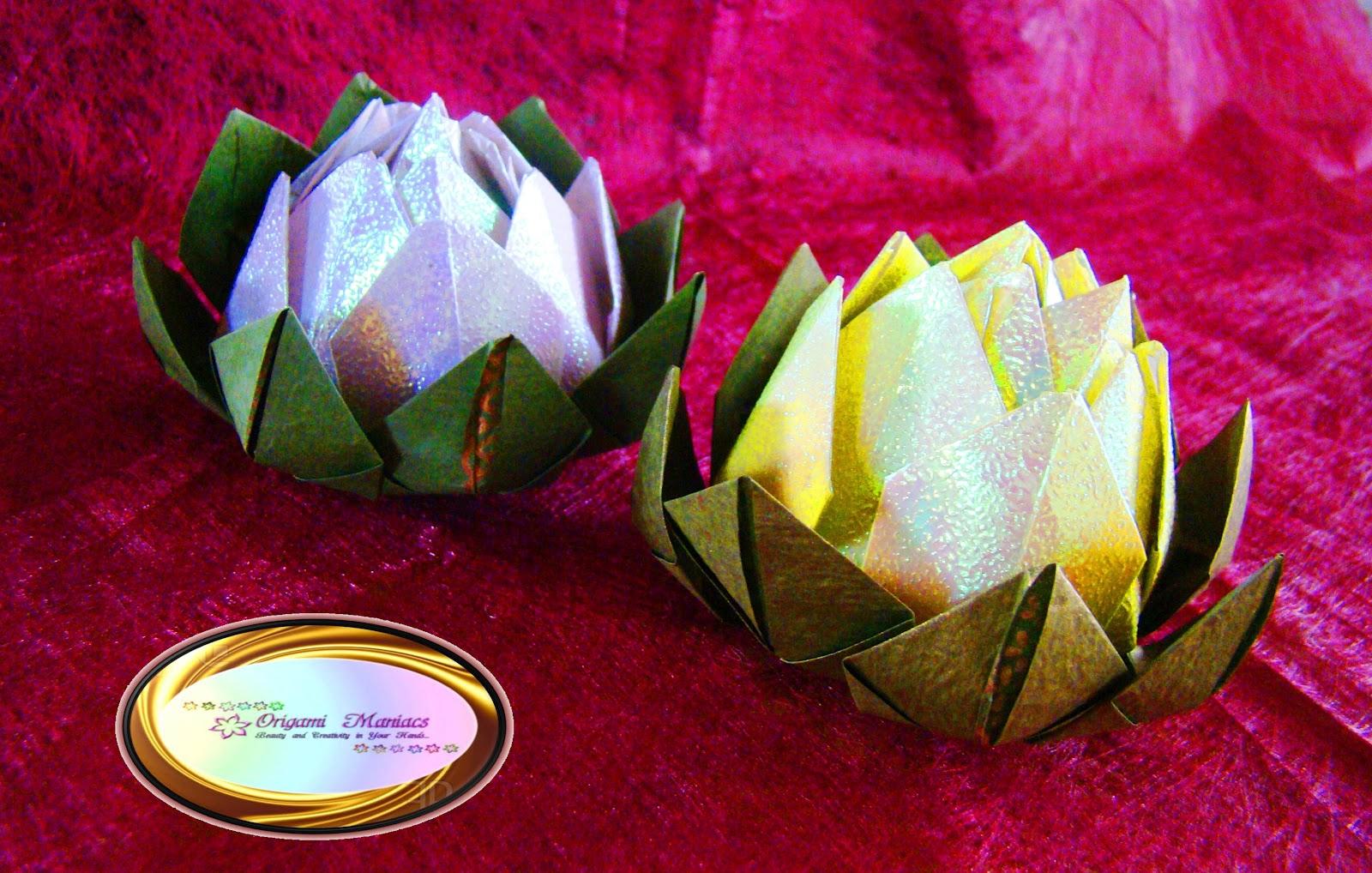 origami maniacs  beautiful origami lotus flower