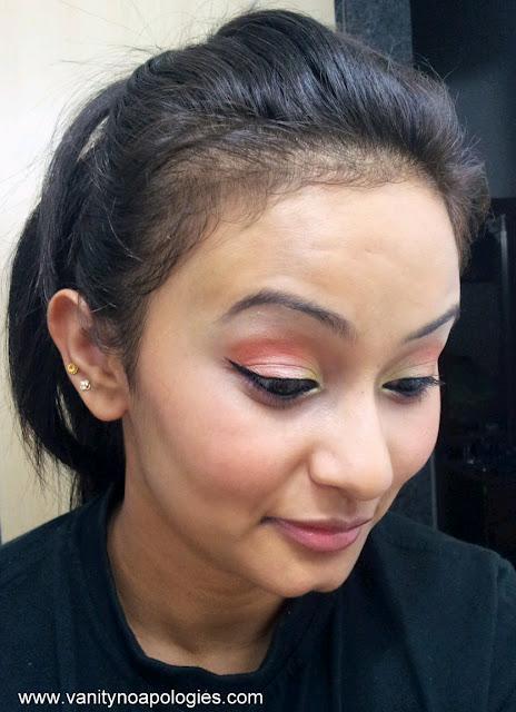 pastel coral makeup