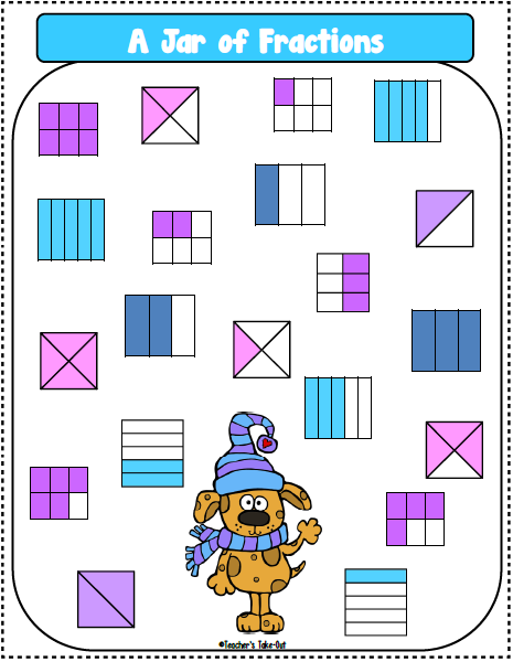 Freebie! A Jar of Fraction Game