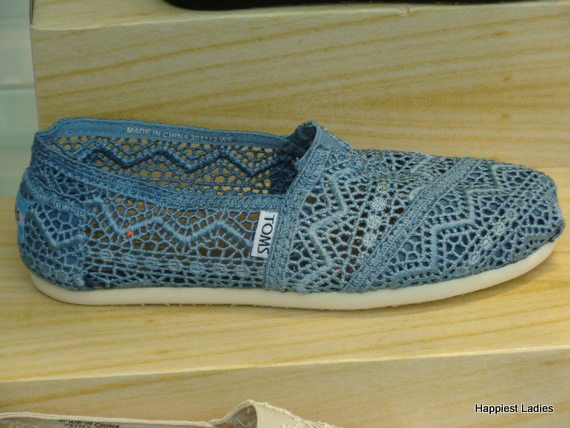 TOMS lace crochet shoes