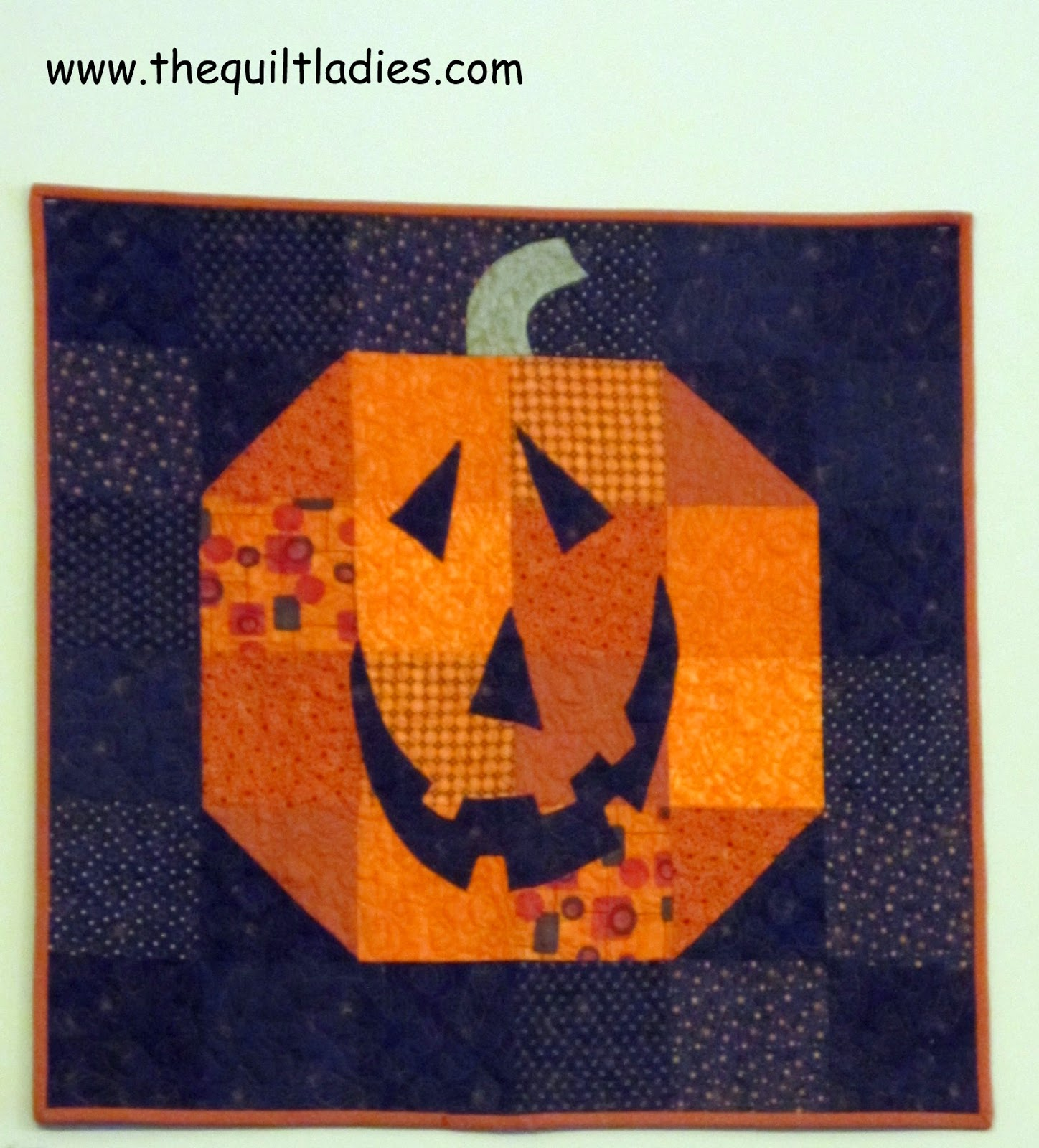 Happy Halloween and pumpkin quilt