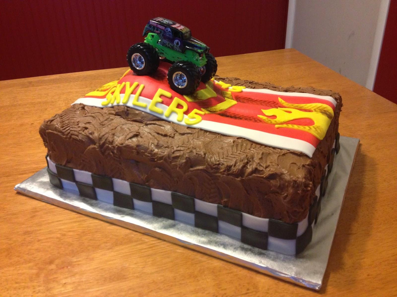 Sugar Love Cake Design Monster Truck Cake 14 sheet
