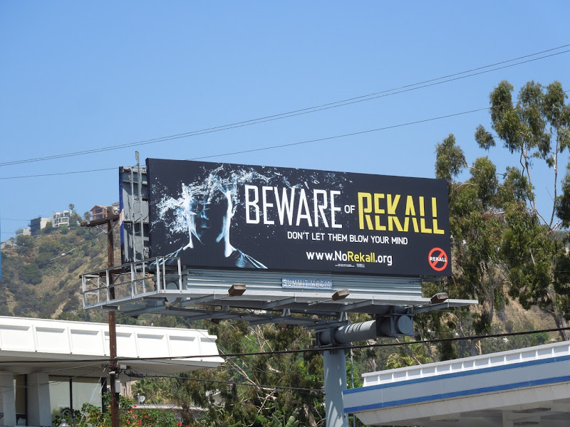 Total Recall remake teaser billboard