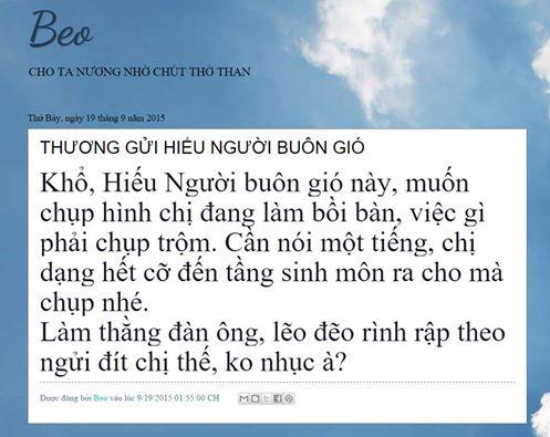 Nói thêm về câu nhắn gửi Lái gió Bùi Thanh Hiếu của Beo Hồng