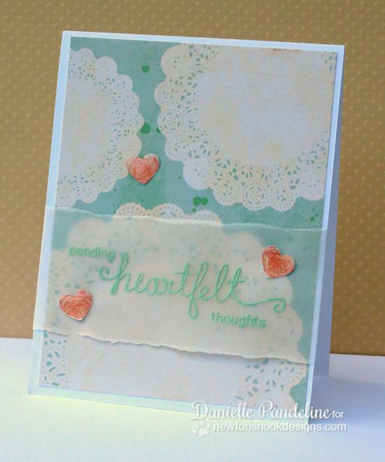 Heartfelt Thoughts by Danielle Pandeline | Simply Sentimental Stamp Set | Newton's Nook Designs