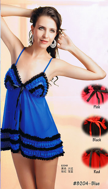 8204 : BLUE only, Free Size (Size Fits Most S, M & L) with G-String before RM 49 now only RM 39 !!!