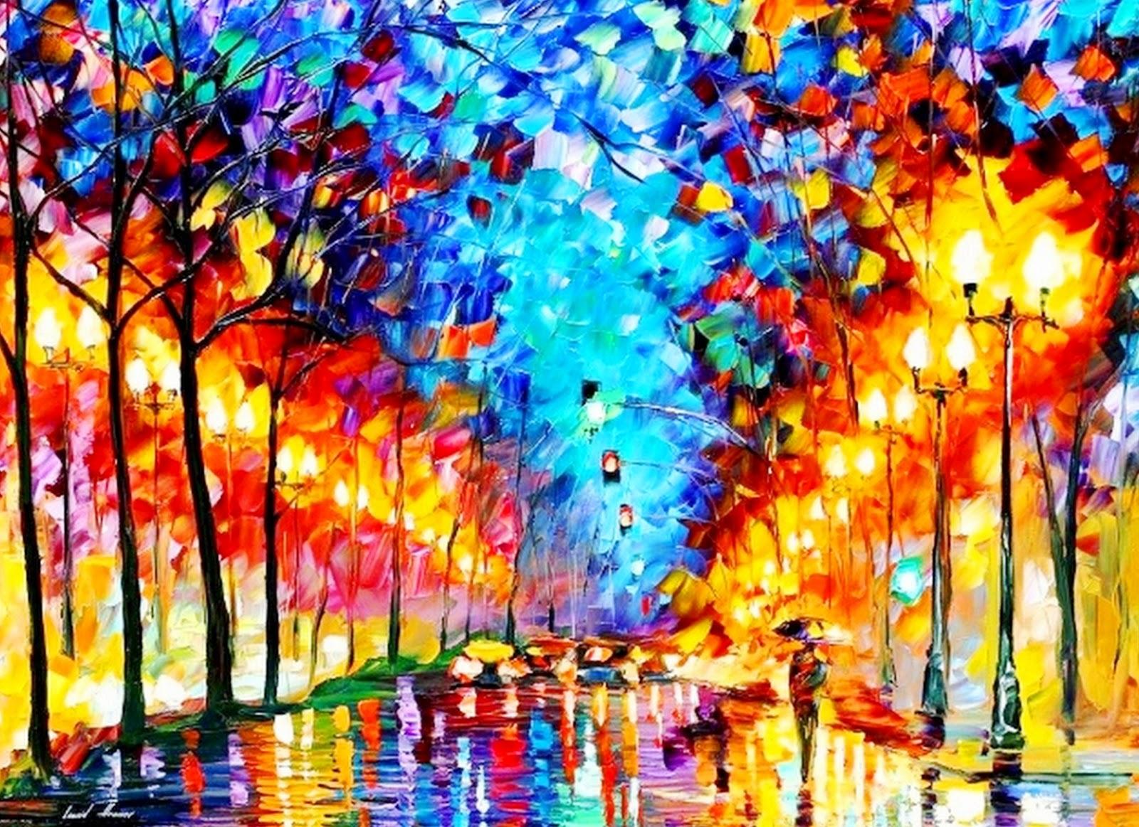 Pinturas cuadros lienzos imagenes de pinturas a espatulas paisajes - Imagenes para cuadros ...
