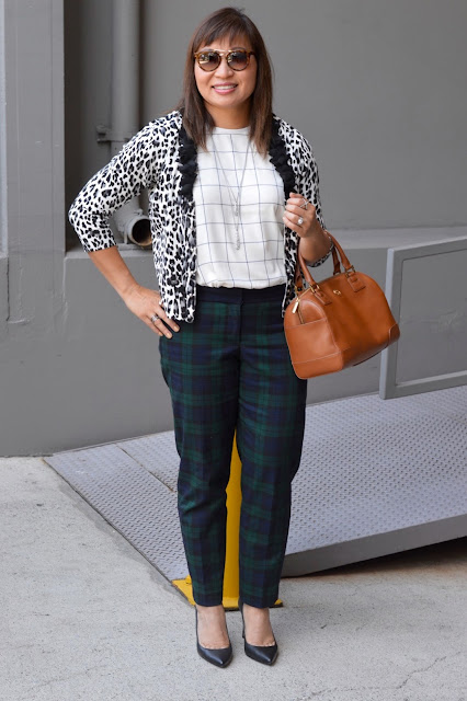 Pattern mixing, office style, fashion over 40