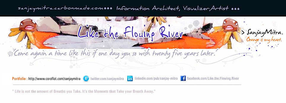 Like the Flowing River: Sanjay Mitra Information Architect Kolkata sharing the moments ...
