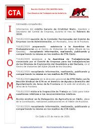 C.T.A. INFORMA CRÉDITO HORARIO CRISTOBAL NIETO, FEBRERO 2020