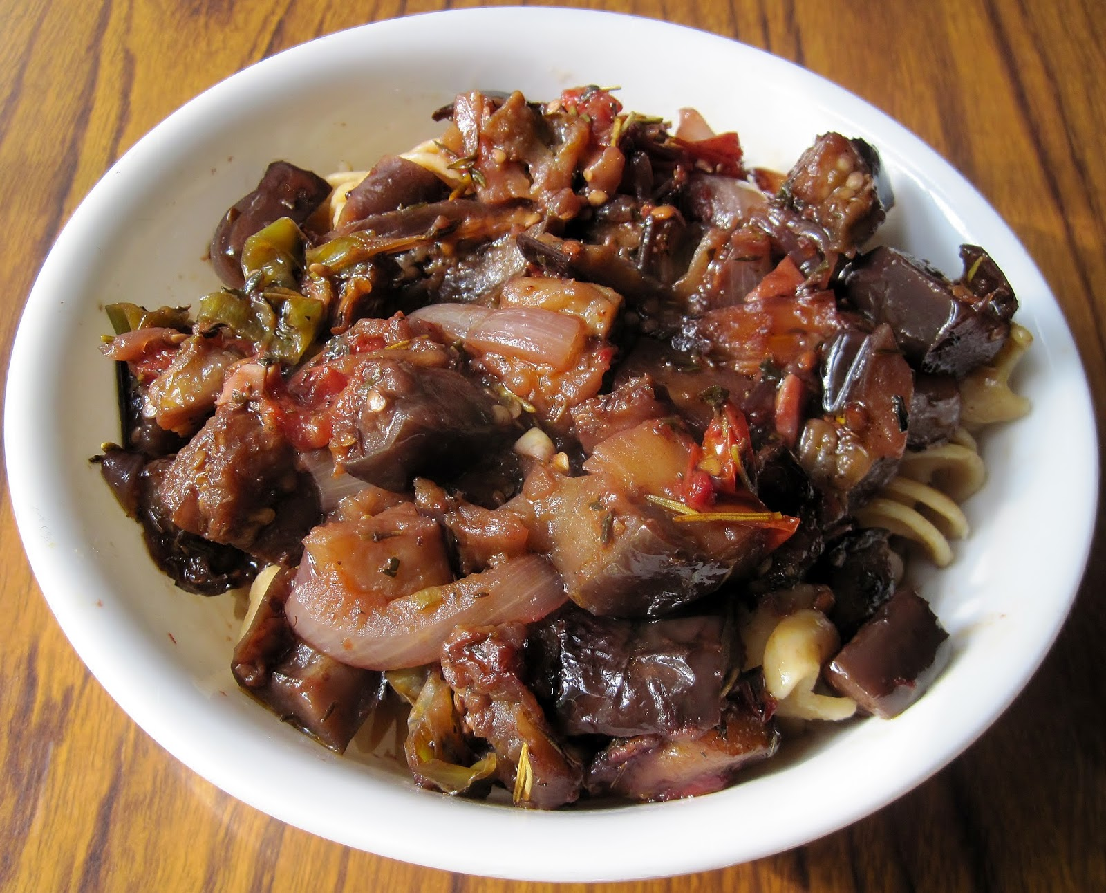 ... Sauce Company: The Reluctant Cook's Roasted Eggplant with Pasta