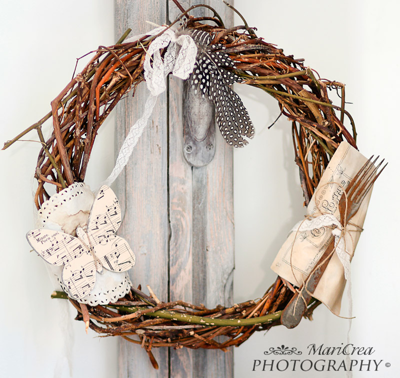 Easter wreath DIY