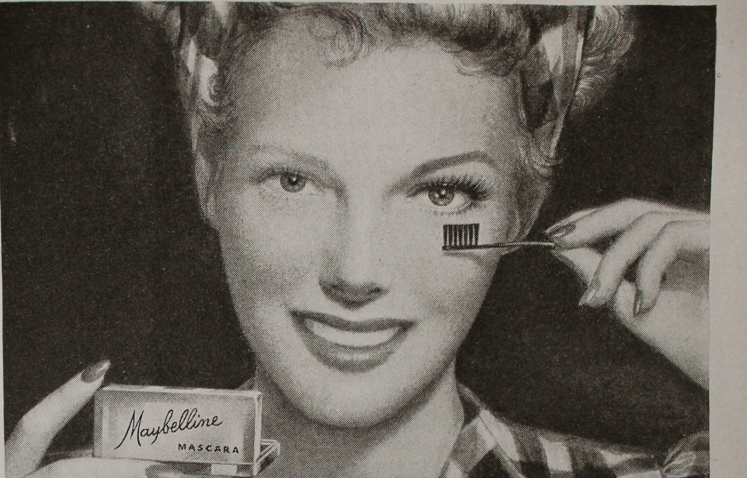 Vintage mascara advert