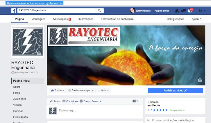 www.facebook.com/www.rayotec.com.br
