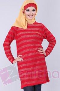 Zenitha Blus Zn126 - Merah (Toko Jilbab dan Busana Muslimah Terbaru)