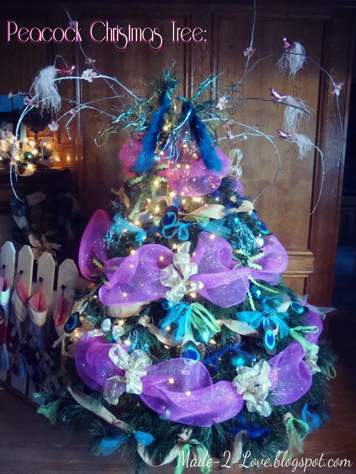 you can check out the stocking holder here - Peacock Christmas Tree