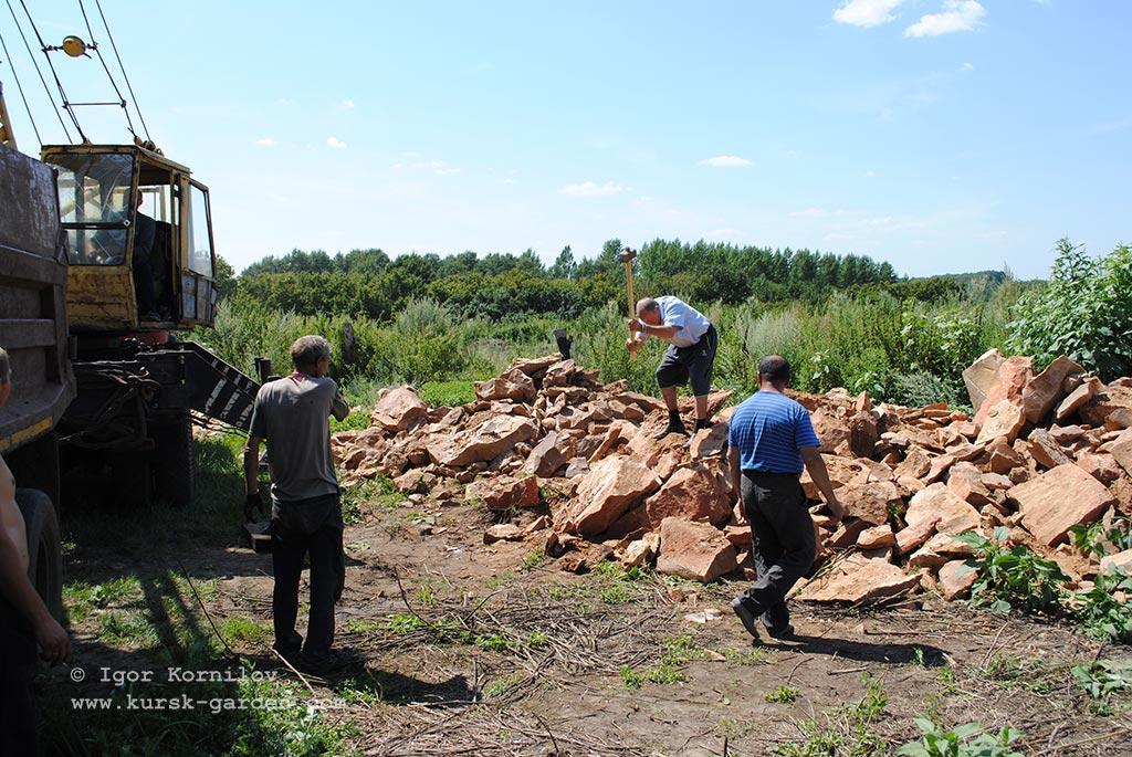 Бутовый камень в Рыльском районе Курской области