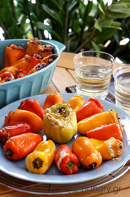 Peppers Stuffed with Cheese & Bacon