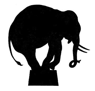 Vector Images Downloads  Circus Elephant Silhouette