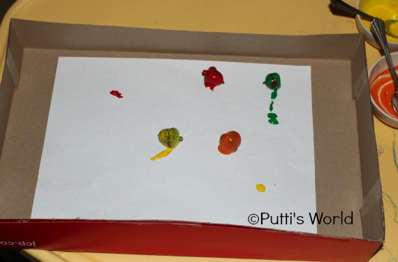 Acorn Roll Paintings for kids