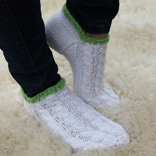 Kesä villasukat käsinkudotut