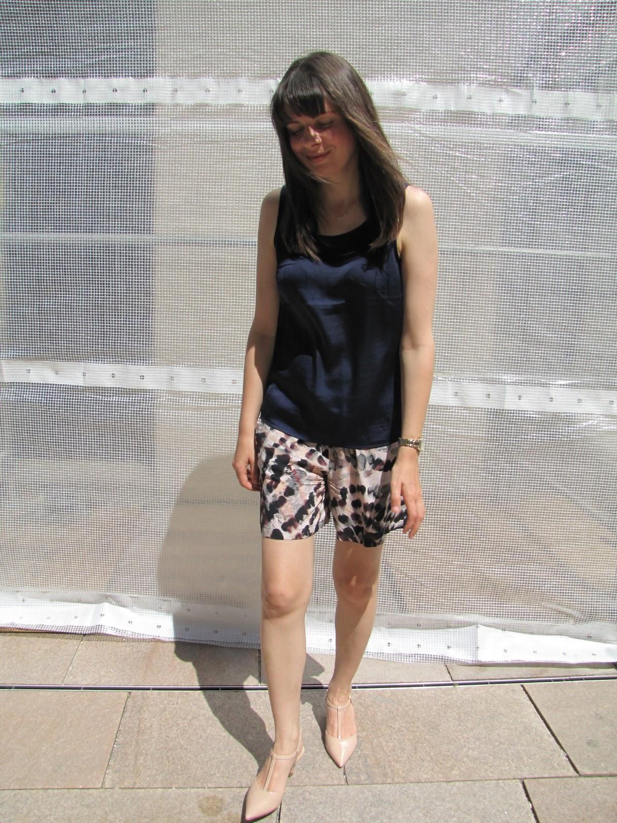 Skorts Sisley, Bluse H&M