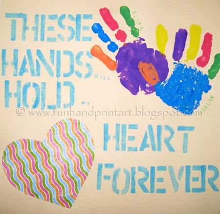 Handprint craft ideas Hand print art