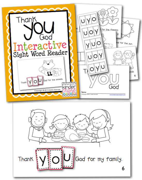 "FREE ""Thank You God"" Emergent Reader"