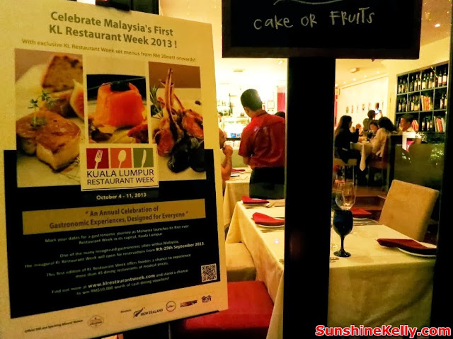 KL Restaurant Week, OPUS Bistro @ Bangkung, bangsar, Food Review, Italian food, cuisine