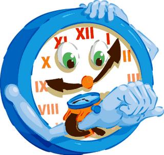 Caricatura de un reloj