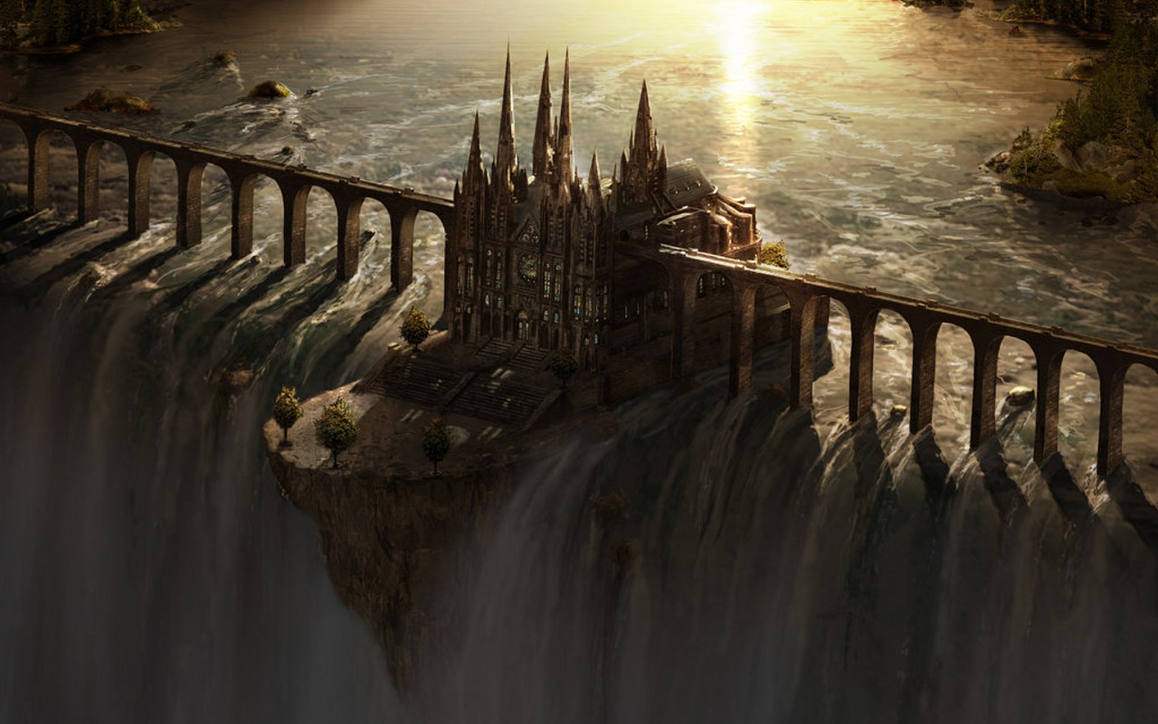 Waterfall Castle in Painting