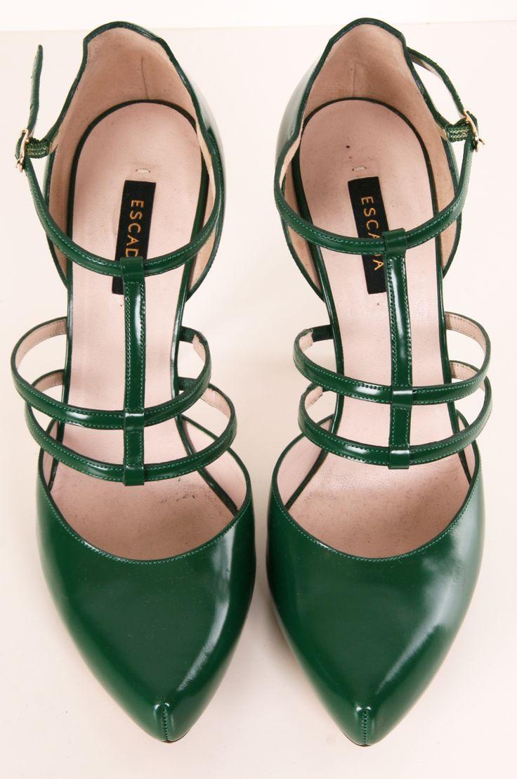 Green Stroppy Heels