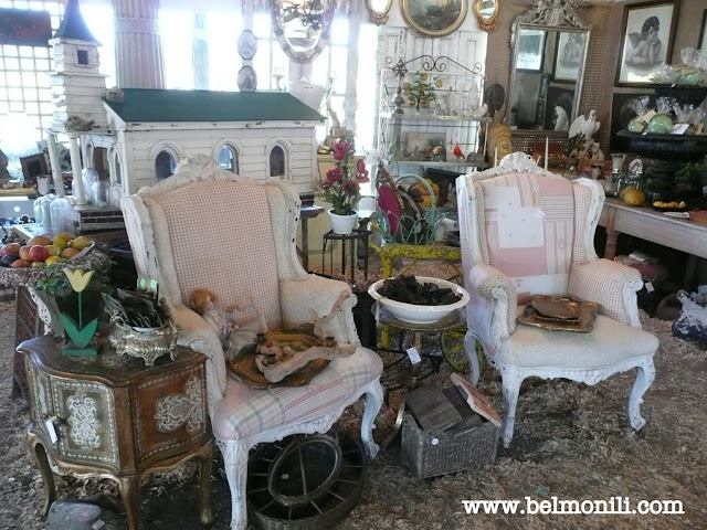 pink chair, birdhouse, country living fair, country living magazine, rhinebeck, bel monili