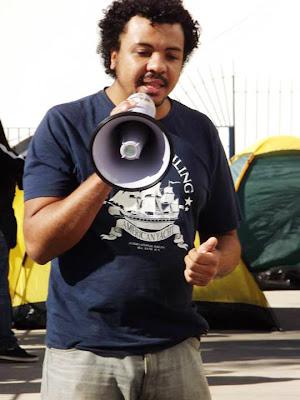 Wescrey Pereira em plenária do Campo Democrático e Popular