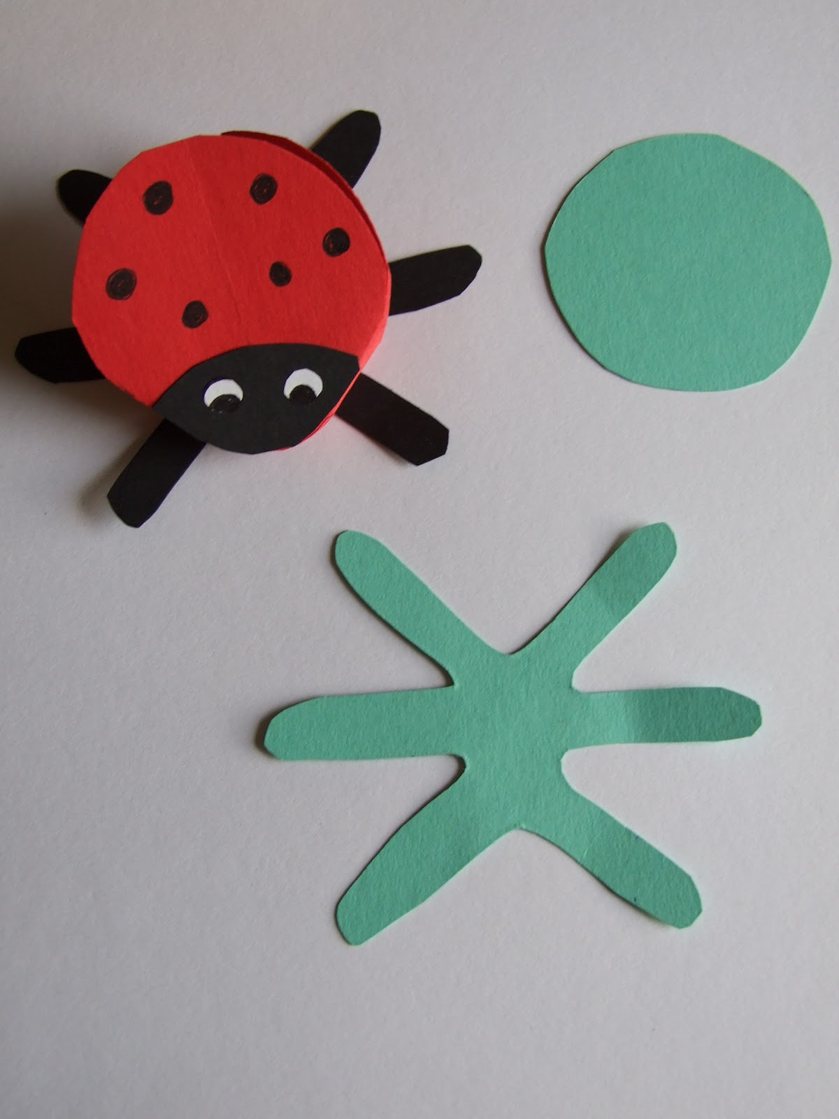 katie claire easy crafts for kids paper ladybug