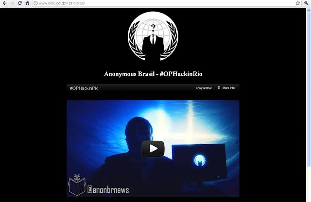 Hackers invadem novamente o site da Câmara de Cristalina em protesto ao sistema político