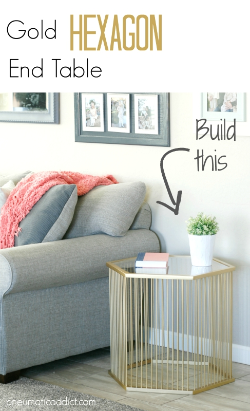 Modern Gold Hexagon End Table Building Plans