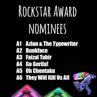 The Shout! Awards 2013 - Rockstar Award Nominees