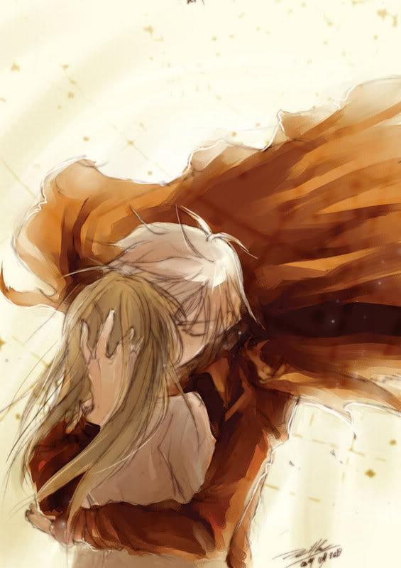 anime couple hugging wallpapers - photo #44