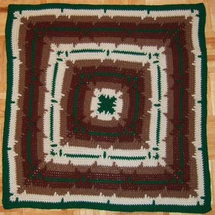 Square Navajo Lap Blanket