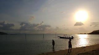 Sunset Silhouette Thailand Beach by Ian Bunyan